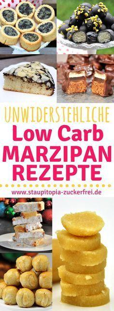 Low Carb Marzipan Rezepte kann es nicht genug geben. Du backst auch gerne mit Marzipan? Diese Low Carb Marzipan Rezepte werden dich begeistern. #marzipan #rezepte #ohnezucker #lowcarb #glutenfrei #mandeln #staupitopia