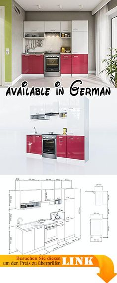 B00PJE0KH0  Küche Köln 172x280 cm Küchenzeile in Sonoma Eiche - küchenblock mit elektrogeräten