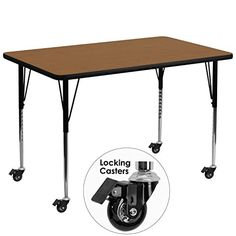 Merveilleux Activity Table With Thick Top And Standard Adjustable Legs   Adjust The  Height Of Your Flash Furniture Mobile X In. Activity Table With Thick Top  And ...