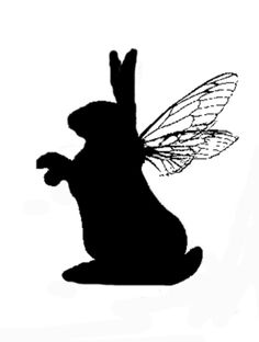 My Bunny-fly! Rabbit Silhouette, Damask, Bunnies, Butterflies, Lion, Characters, Deviantart, Dolls, Crafts