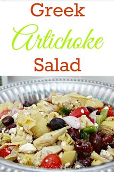 Greek Artichoke Pasta Salad-- such a delicious summer side dish! {Making Lemonade Summer Salad Series}