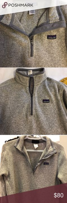 Patagonia better sweater 1/4 zip Size medium excellent condition bought and wore a handful of times, but decided I wanted the full zip jacket instead. Gray birch color Patagonia Tops Sweatshirts & Hoodies