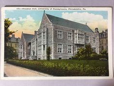 1931 Houston Hall, University of Pennsylvania, Philadelphia, PA postcard
