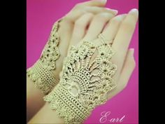 Crochet Romantic Gloves - English - YouTube