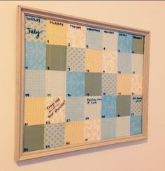 Successful Pinterest DIY Project: Dry erase calendar using trash picked frame and craft paper. Try and find a frame that already has the glass with it. Thrift store should have plenty. Calendar cost me $3 total {$1 for dry erase markers and $2 for paper. Even had tons of paper left over}. Great housewarming gift!