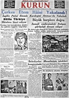 Newspaper Headlines, Old Newspaper, Turkey History, Newspaper Archives, Somali, Revolutionaries, Old And New, Istanbul, Nostalgia