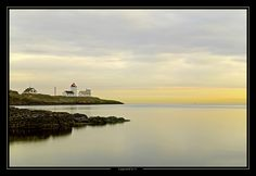 Langesund lighthouse, located along the coastline of southern Norway.