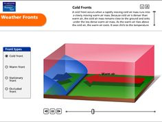 """In """"Weather Fronts"""" by Pearson, students watch these weather fronts change as they collide with different air masses and shift the weather. Grades: 5-9"""