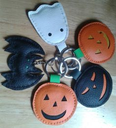 Check out this item in my Etsy shop https://www.etsy.com/uk/listing/467511394/handmade-leather-halloween-key-rings