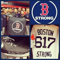 Boston Strong. Cuz weeeeee are the champions, my friends. And weeeeee'll keep on fighting, till the end!!