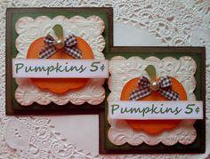Thanksgiving Pumpkin Embellishments-Set of 2 by sarasscrappin