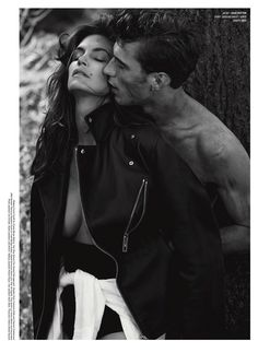 visual optimism; fashion editorials, shows, campaigns & more!: cindy in menswear: cindy crawford and clement chabernaud by sebastian faena f...