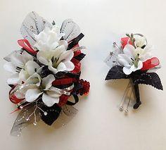 Beautiful corsage and matching boutineer