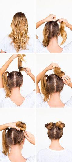 DIY double bun hair tutorial
