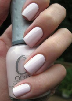 The Nail Network: Orly Kiss the Bride. This is my favorite!! But I might wanna try French shellac for the wedding