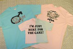 Planning a gender reveal party for your closest friends and family? Youll need to look festive! This listing is for 3 shirts which can
