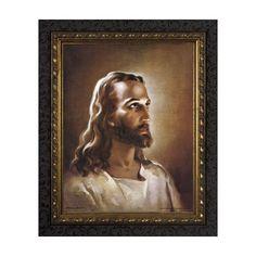 Head of Christ w/ Dark Ornate Frame