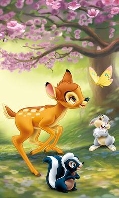 Disney World Bambi and Friends Cartoon Wallpaper Disney Amor, Cute Disney, Disney Pixar, Tinkerbell Disney, Disney Images, Disney Pictures, Disney Wallpaper, Cartoon Wallpaper, Cartoon Kids