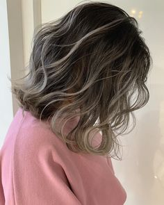 Balayage Long Hair, Ombre Hair, Short Grunge Hair, Edgy Hair, Medium Hair Styles, Curly Hair Styles, Short Permed Hair, Dark Hair With Highlights, Hair Dye Colors