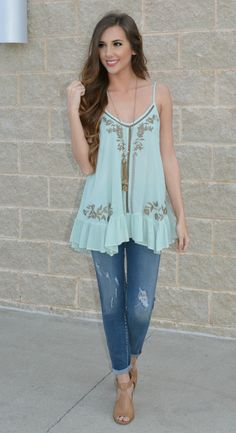 Festival Friendly Embroidered Top | Haute Pink Boutique