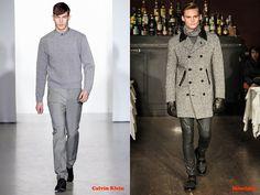 Tendencias hombre otoño/invierno 13/14 color gris: Calvin Klein y Moschino