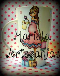 taza ,diseño embarazada