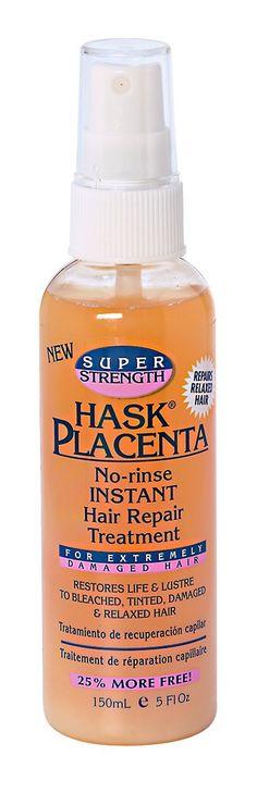 Hask Super Strength Placenta No-Rinse Instant Hair Repair Treatment 5oz