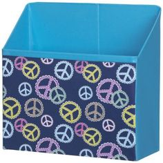 """Ganz Just My Locker - Accessories Bin - Peace Symbol by Ganz Just My Locker. $9.99. 33/4"""" W. x 11/2"""" D. x 33/4"""" H.. Super Strong Magnets To Keep Your Stuff in Place. Designed to Look Great with Wallpaper & Flowers. Add the perfect fashion touches to your fabulous locker.. Transform your school locker from basic to beautiful with Ganz locker decorations that make it easy for you to have an amazing locker in no time! Express yourself through our unique mix-and-match locker design ..."""