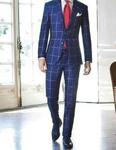 Tailored checkered suits are not just suits, but they are the epitome of classic dressing for men. It is formal wear for men to elevate their charisma in a professional environment or for any formal event. Mens Fashion Suits, Mens Suits, Men's Fashion, Mens Plaid Suit, Suit Vest, Fashion Menswear, Fashion Ideas, Sharp Dressed Man, Well Dressed Men