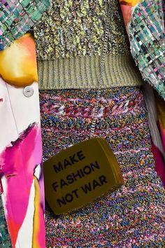"""""""Make Fashion Not War"""", #Chanel S/S 2015"""