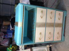 Tiffany Blue Custom Waterfall Dresser
