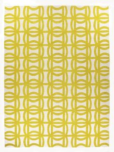 I WANT THIS RUG! Sellarsbrook Yellow rug by Suzanne Sharp. If anyone sees a knock off please post it! The original is way too expensive. Thanks!