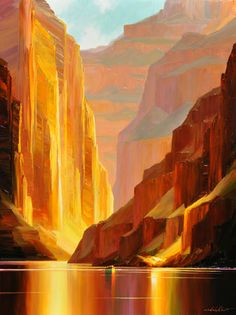 Canyon Serenity, by Charles Pabst, southwest art