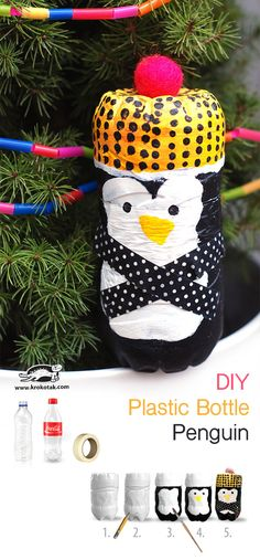 DIY Plastic Bottle Penguin