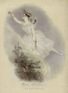 "Alfred Edward Chalon and Richard James Lane, ""Marie Taglioni, La Sylphide"", color lithography"