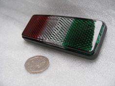 Italian Flag Reflector Badge (approx size 85mm x 30mm)