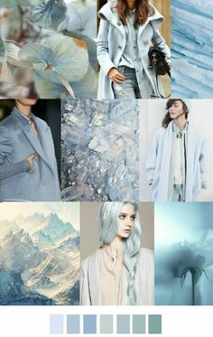 Ice blue f/w 2016 shades of color barvy, palety, moda. Inspiration Mode, Color Inspiration, Fashion Inspiration, Fashion Colours, Colorful Fashion, Fashion Patterns, Color Trends, Color Combinations, Colour Schemes