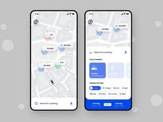 RePark - Parking Iteration designed by Andriy Pryvalov for Etheric. Connect with them on Dribbble; Mobile Ui Design, App Ui Design, Flat Design, Design Design, Dashboard Design, Icon Design, Design Trends, Interface Web, User Interface Design