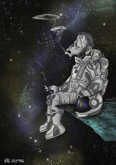 Galactic monkey. Monkey, Paintings, Fictional Characters, Art, Sketch, Art Background, Jumpsuit, Paint, Painting Art