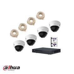 Complete Dahua 4x dome ip camera systeem set