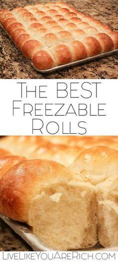 The BEST Freezable Rolls Recipe. #freezer #bread