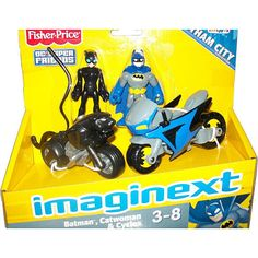 """RD: Fisher-Price Imaginext DC Super Friends Vehicle - Batman, Catwoman and Cycles - Fisher-Price - Toys """"R"""" Us"""