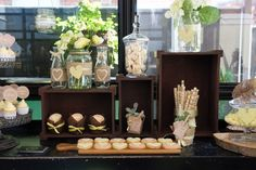 Anders Ruff Custom Designs, LLC: Rustic Elegant Shabby Chic Wedding Dessert Table