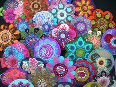 beautiful felt brooch pins via Flickr