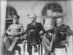 Roosevelt, Churchill, Stalin--November 27, 1943