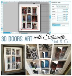 Door Photos Shadow Box with Silhouette Studio (How to Design and Print and Cut)