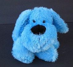 "Blue Floppy PUPPY DOG 15"" Black Nose Kuddle Me Toys Stuffed Animal"