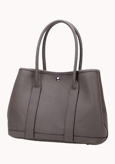 New Popular 37CM Tote Bag Calfskin Leather Dark Grey