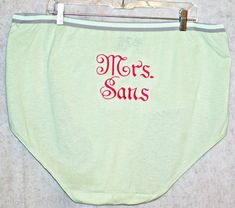 Granny Panties, Embroidered Brides, Big Gag Gift, Mrs. Bridal Shower Gift, Wedding Night, Monogram Panties, Ready To Ship AGFT TODAY,051