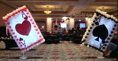 Balloon Card Sculptures by www.atlantaevents.biz